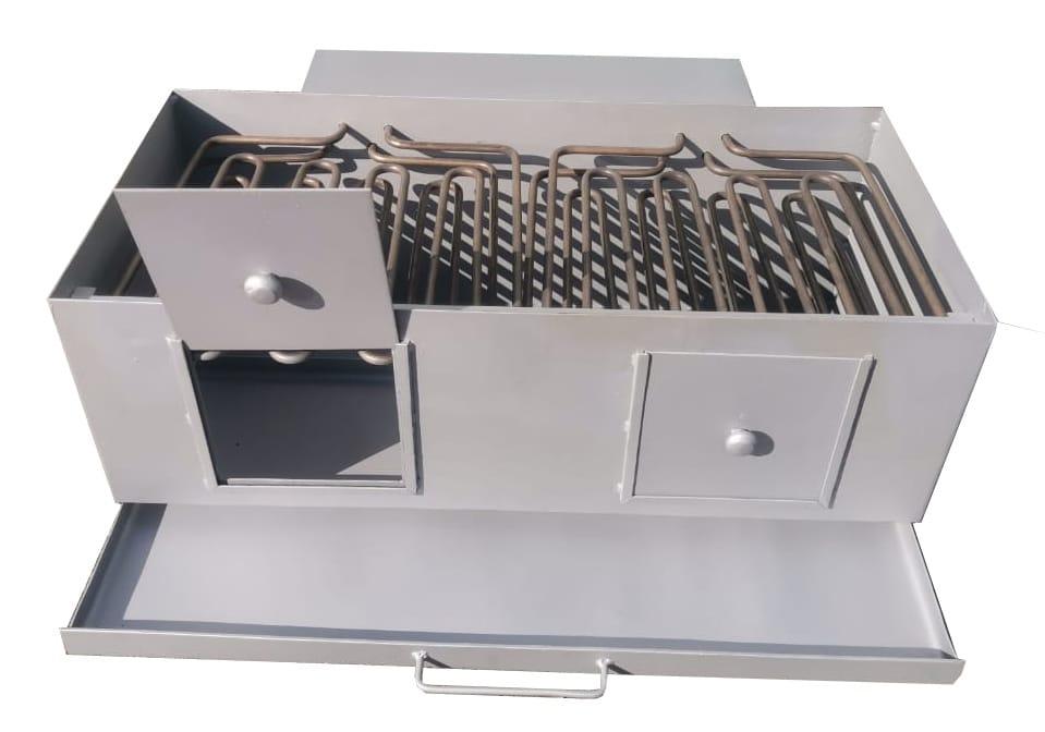 Промышленное приготовление шашлыка на электромангале